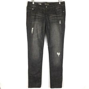 Decree super skinny grunge black denim jeans